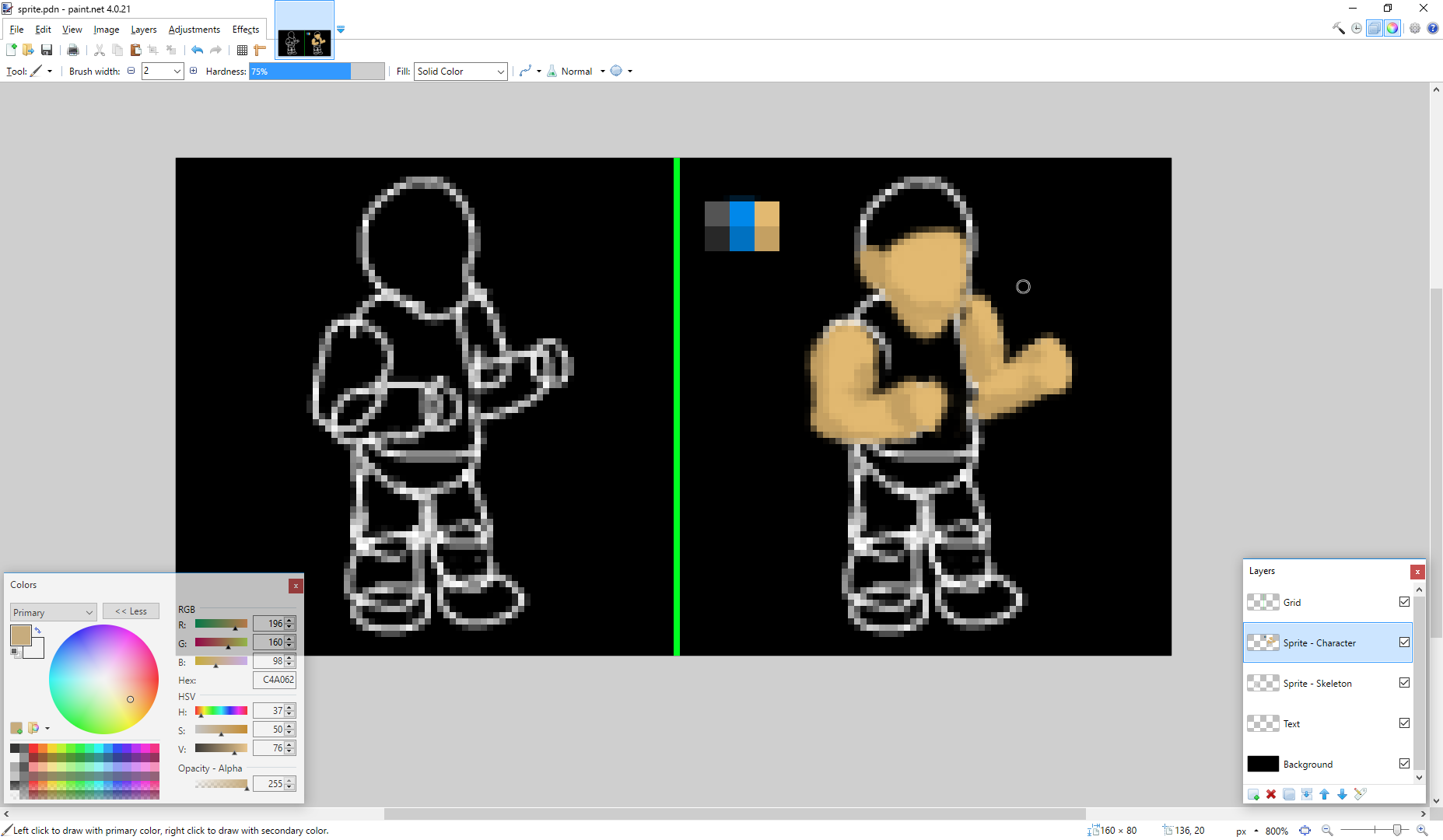 Players draw sprites for existing or new characters, weapons, or maps.