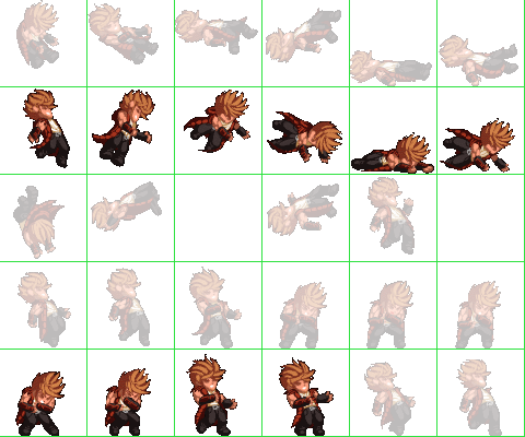 Sprites used when a character is hit.